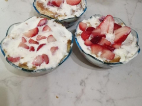 Coppe alla fragola