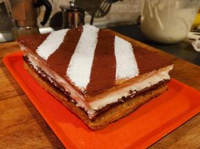 Torta Diplomatica con Cacao, Crema Frangipane e Crema al Latte
