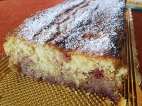 Plumcake alla panna e ciliegie