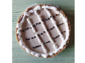 Crostata cappuccino con gocce di cioccolato