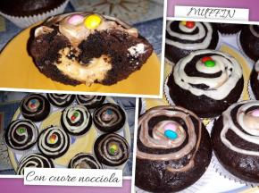 Muffin Cacao e cuore alla Nocciola