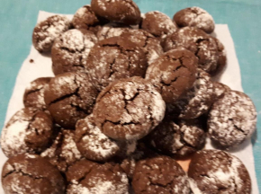5 SFIDA CULINARIA RICETTA DELLA COMMUNITY: Biscotti Crinkle cioccolato e rum