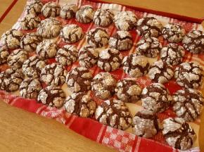 Biscotti crinkle cioccolatosi