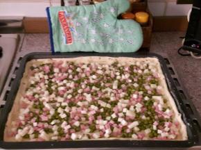 Torta salata in verde