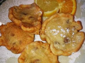 frittelle  gocce di cioccolato e arancia candita