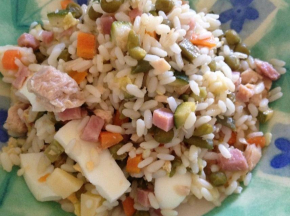 Insalata di riso con le verdure del mio orto