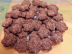 biscotti al  cioccolato con granella di nocciola