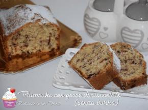 Plumcake con gocce di cioccolato senza burro