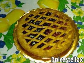 crostata bigusto con confettura di albicocca e ciliegia