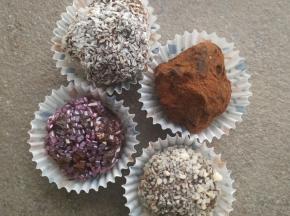 Tartufini al cioccolato fondente