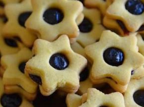 stelle con marmellata di more