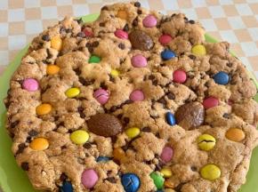 Torta-Biscotto Coookies con Smarties