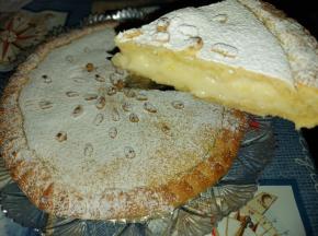 Torta della Nonna (riciclo crema pasticcera cornetti)