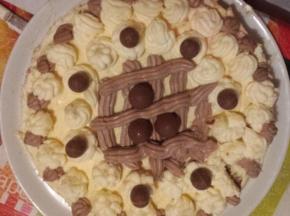 Torta con crema bicolore