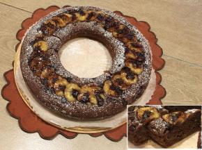 Ciambellone al Cacao con Banane