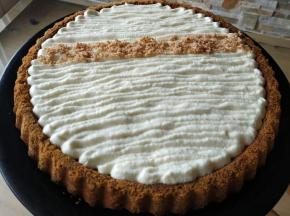 Crostata con namelaka al cioccolato bianco