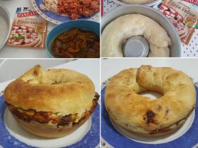 Ciambella pizza veloce svuotafrigo