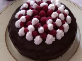 Sacher decorata