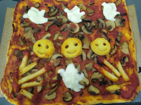 Pizza mostruosa👻👻🎃