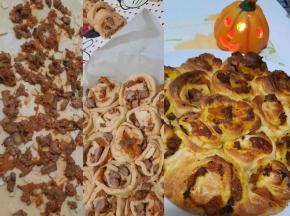 Girelle di zucca, funghi e salsiccia