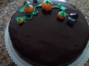 Torta sacher per Halloween
