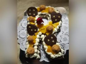 Cream tart  pesche e amaretti
