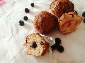 Muffin con le more