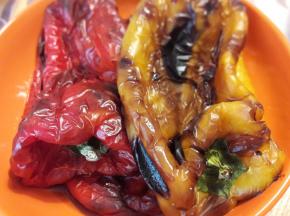 Peperoni arrostiti in friggitrice ad aria