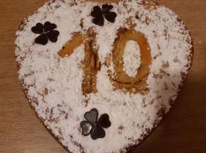 Cuore alle mele - 10° compleanno Dolcidee