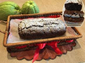 Plumcake al cacao con zucca spinosa e noci