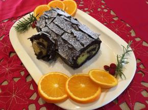 Tronchetto di Natale con Crema all'Arancia