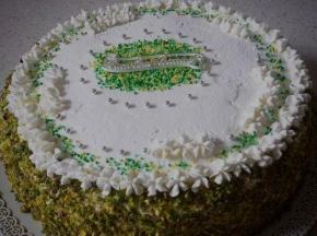 Torta pistacchiosa di compleanno