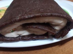 Rotolo al mascarpone e panna con cacao
