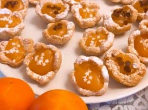 Cestini con crema d'arancio