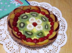 Crostata alla frutta con crema pasticcera🍓🥝🍌
