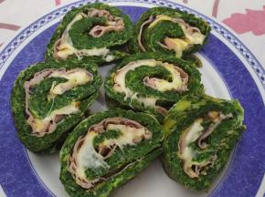 Frittata con spinaci farcita