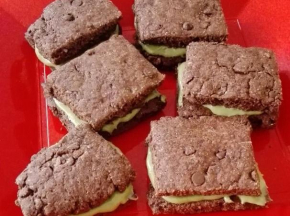 Biscotti cioccolato e pistacchio vegani