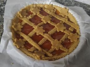 Crostata integrale all'albicocca