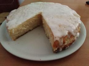 Torta con crema al miele