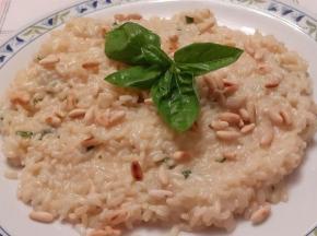 risotto basilico e pinoli