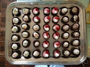 Pirottini di cioccolato colorati