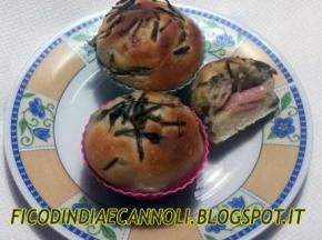 Cup Cake di Pizza Asparagi Prosciutto e Formaggio