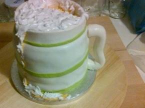 Un boccale di guinnes  cake