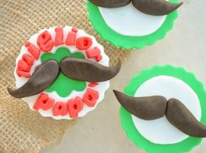 Muffin con i baffi per la Festa del Papà