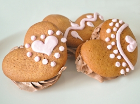 Whoopies a cuore per San Valentino