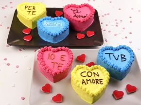Tortine a forma di cuore per San Valentino