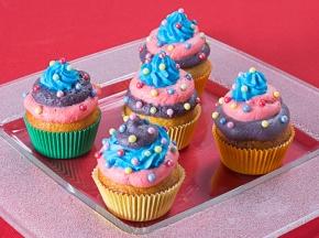 Cupcake di Carnevale ai lamponi