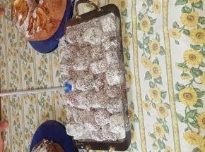 Quadretti cocco e cioccolato fondente