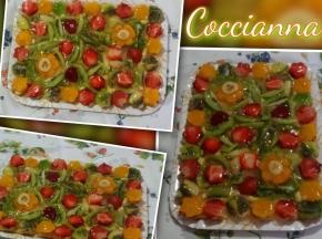 Crostata fiori di frutta