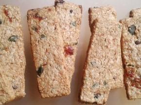 biscotti rustici ai semi di girasole, uvetta e cioccolato